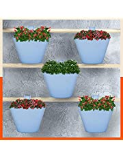 Patio by Bathla - Hanging Oval Planters with Reinforced Hook, Fertiliser Ports and Drainage Notch | Anti-Fade and Weather Resistant