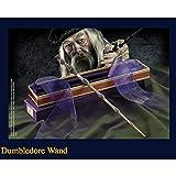 GXLO La Varita de Dumbledore con Caja de Cinta Dura, Sabes quién es la caña de Series de 14'Harry Potter, Varita mágica de los Accesorios de Halloween y de Navidad