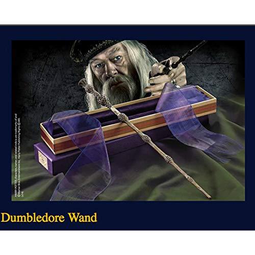 """GXLO La Varita de Dumbledore con Caja de Cinta Dura, Sabes quién es la caña de Series de 14""""Harry Potter, Varita mágica de los Accesorios de Halloween y de Navidad"""