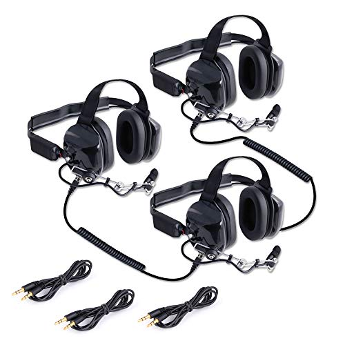 Why Choose Rugged Radios H80-DOUBLE-TALK-X3 Linkable Intercom Headset Kit for 3 People - Great for N...