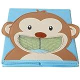4 Stück TE-Trend Textil Faltbox Spielbox Tiermotive Frosch Affe Eule Kuh Aufbewahrung Truhe für Spielzeug faltbar 28 x 28 x 28 cm - 8