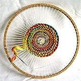 編み機 本針 羊毛, DIY木製手作り壁飾り円形ツールウールかぎ針編み1個