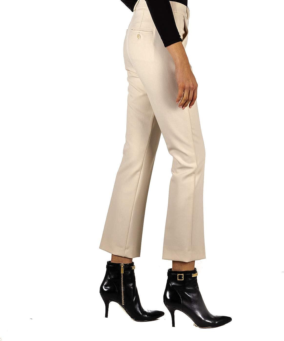 MaxMara Womens High Waisted Capri Casual Trouser Pants