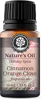 Cinnamon Orange Clove Fragrance Oil 10ml for Holiday Diffuser Oils, Making Soap, Candles, Lotion, Home Scents, Linen Spray and Lotion
