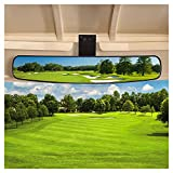 10L0L Universal Golf Cart Rear View Mirror, Newest 16.5' Extra Wide Panoramic 270 Degree Rear View Mirror for EZGO Club Car Yamaha