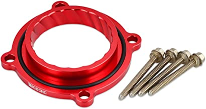 Nicecnc Red Eddy Throttle Body Spacer with 4 Bolt Kit Replace Ram 1500 3.6L V62013-2015,Grand Cherokee 2011-2014,Wrangler 2012-2016,Routan 2011-2014