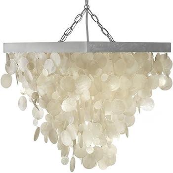 Amazon Com Kouboo Capiz Seashell Rain Drop Pendant Lamp Home Improvement