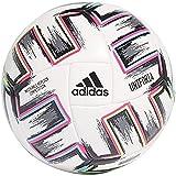 adidas UNIFO COM Balón de Fútbol, Men's, White/Black/Signal Green/Bright Cyan, 5