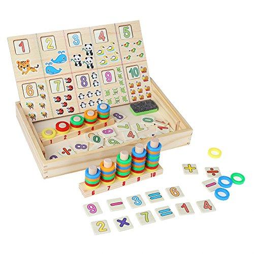 Juguetes de rompecabezas de matemáticas de madera, juguetes