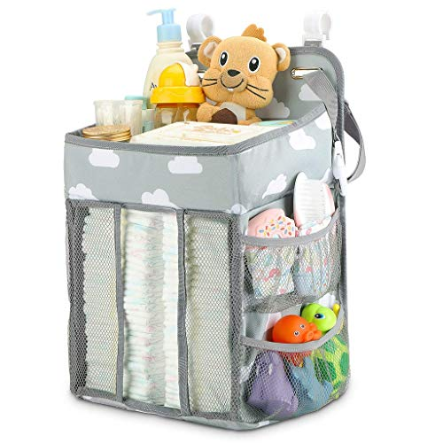 Read About Baby Stroller Hanging Bag Multi-Function Diaper Bed Newborn Hanging Diaper Caddy Organize...