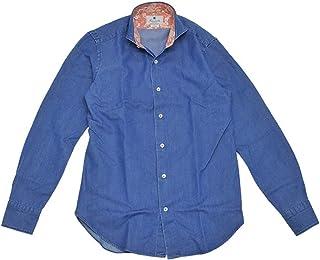 (ジャンネット)GIANNETTO 長袖シャツ メンズ デニムシャツ ブルーウォッシュ WASHING DIVISION 正規取扱店
