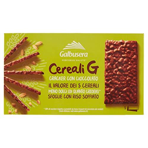 Galbusera Riso su Riso Snack con Riso Soffiato Ricoperto di Cioccolato; 150 g
