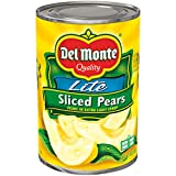Del Monte Canned Sliced Bartlett Pears in Extra light Syrup, 15 Ounce