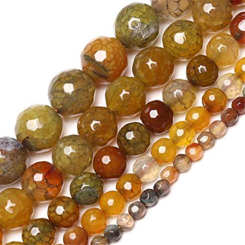 Vena Negra Naranja Egata Egata Onyx Redonda Redánea Piedra Natural Beads 4-12 mm para joyería Hacer Pulsera DIY Orange 10mm About 37pcs