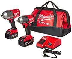 "Most powerful1/2"" impact wrench - 1,000ft-lbs fastening & 1,400ft-lbs nut busting torque Most powerful 3/8"" impact wrench - 600ft-lbs nut-busting torque Most compact high torque in the Industry - up to 0.7"" shorter length than the competition Over 60..."