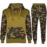 Kids Sports Military camuflaje hododied Tracksuit 2Piece Contrast
