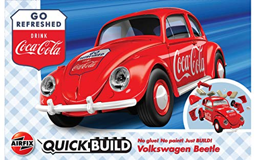 Airfix J6048 QUICKBUILD Coca-Cola VW Beetle Bausteine, Bausatz