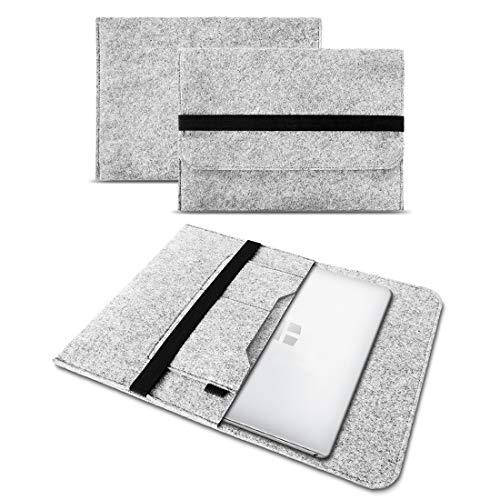 UC-Express Sleeve Hülle kompatibel für Odys Trendbook 14 Pro Tasche Filz Notebook Cover 14' Laptop Schutz Hülle, Farbe:Hell Grau