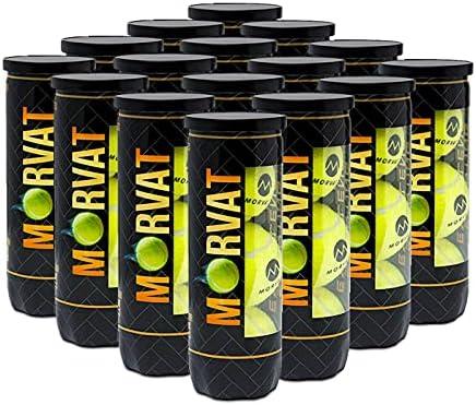 Morvat Professional Tennis Balls – Yellow Felt Durable Pres