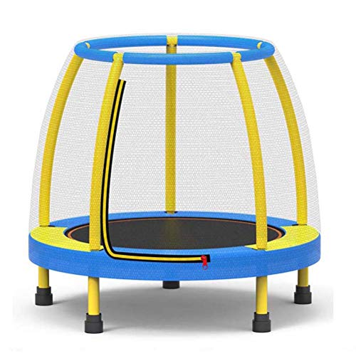 LANGWEI 48' Kids Trampoline with Enclosure, Small Safety Jumping Bungee Rebounder Recreational Trampolines with Safety Net for Kids Indoor Outdoor Garden,Blue