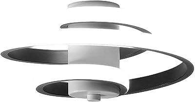 Lumière de Cercles Blancs Modernes à LED, luminaire de Plafond Blanc à Cercles Uniques, plafonnier à Cercles incurvés géométriques, pour l'éclairage de Couloir de Salon de Chambre