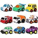 9-Pack Toymus Mini Pull Back Toys Car Vehicles