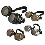 eoocvt 4pcs Retro Vintage Victorian Steampunk Goggles Glasses Welding Cyber Punk Gothic Cosplay Sunglasse