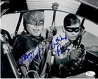 Adam West Burt Ward Dual Autographed Signed 8X10 Photo Batman Robin Driving JSA