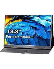 cocopar モバイルモニタ 13.3インチ1920*1080 フルHD IPS HDR機能を支持IPSゲーミングモニター ゲーム/HDMI/PS3/XBOX/PS4モニター1080PダブルHDMI Raspberry Pi用対応できる スピーカ内蔵 PCモニター
