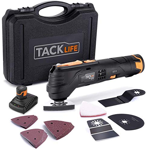 TACKLIFE 12V Cordless Oscillating Tool, 2,000 mAh Lithium-Ion, 6 Variable...
