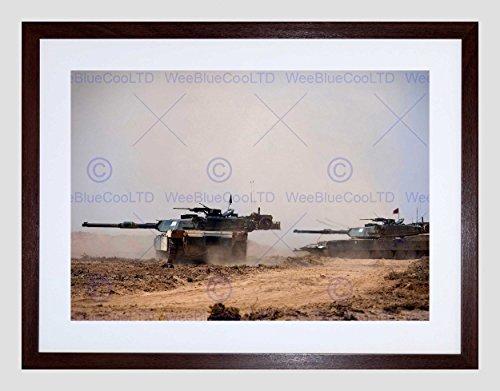 WAR ARMY VEHICLE TANK ARMOURED M1A1 ABRAMS BATTLE GUN FRAMED PRINT B12X4874