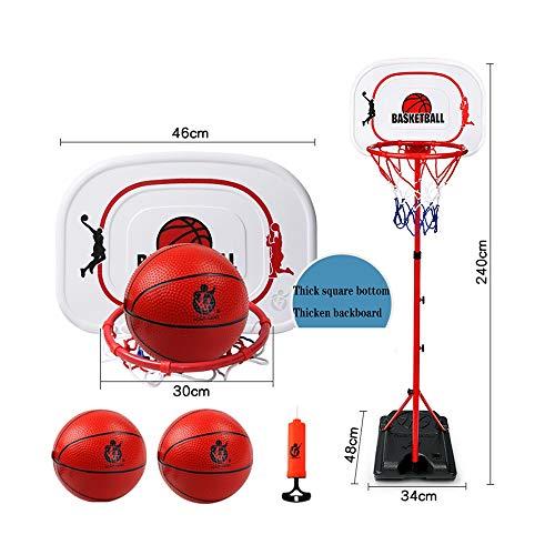 XINGLIAN Höhenverstellbar Kinder Basketballkorb Haushalt Draussen Basketball Rack Jugendliche Erwachsene Basketball-Rahmen (Color : B)