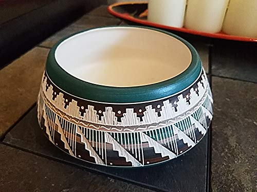 Mission Del Rey Authentic Native American Color Band Horse Hair Pottery for Collector, Southwest, Western Home Decor or Gift. (7