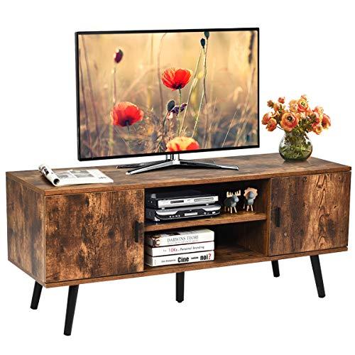 COSTWAY Mobile per TV Tavolino Porta TV Consolle Armadio rétro, per Soggiorno e Camera da Letto, in Legno