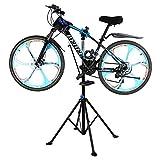 GOTOTOP Cavalletto Supporto Bici Stand Bicicletta per Manutenzione Riparazione,Pieghevole,con Superficie di appoggio, Nero, a Quattro Gambe