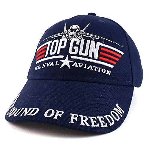 Armycrew US Navy Top Gun Military Aviation Embroidered Adjustable Baseball Cap - Blau - Einheitsgröße