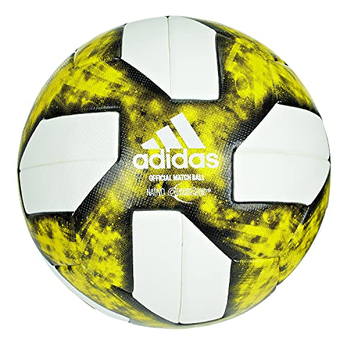 Adidas Nativo MLS CCA Official Match Soccer Ball, White/Yellow/Black, Size 5