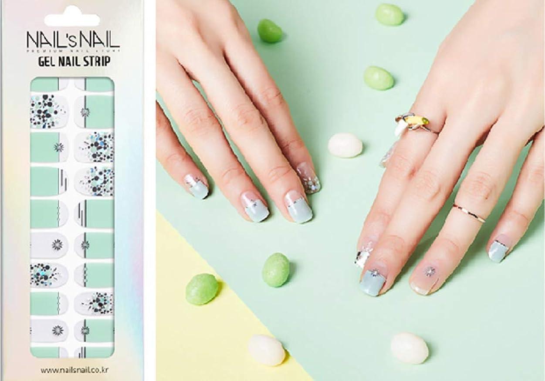 矩形シャックルポンペイ\貼るジェルネイル/Nail's Nail(ネイルスネイル) ジェルネイルストリップ 104
