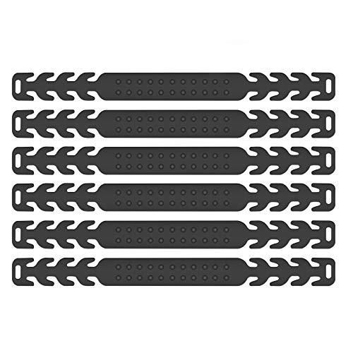 Maske Ohrhaken, 6 Stück Maskenhaken Anti-rutsch Silikon Masken Ohrband Gummiband Verlängerungsriemen für Ohrschutz 4 Gang Einstellbare Haken Ohrenriemen für Erwachsene und Kinder (Schwarz)