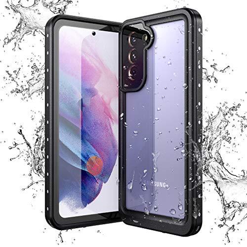 Yokata Cover per Samsung Galaxy S21, Custodia Impermeabile IP68 Certificato Trasparente Cover Waterproof Full Protezione Antiurto AntiGraffio Antipolvere Antineve Subacquea Protettiva Caso