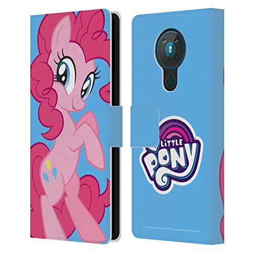 Head Case Designs Licenciado Oficialmente My Little Pony Pinkie Pie Solo Arte del Personaje Carcasa de Cuero Tipo Libro Compatible con Nokia 5.3