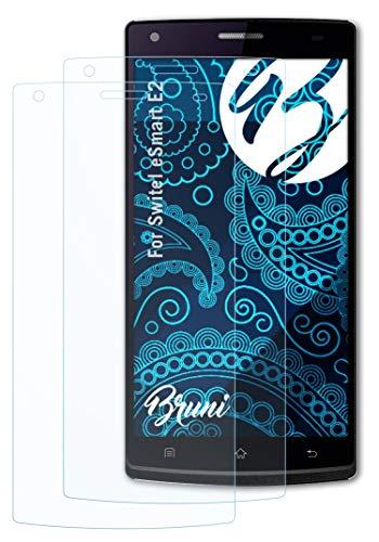 Bruni Schutzfolie kompatibel mit Switel eSmart E2 Folie, glasklare Bildschirmschutzfolie (2X)