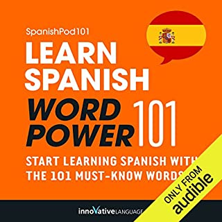 Learn Spanish - Word Power 101 audiobook cover art