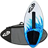 """Slapfish Skimboards USA Made Fiberglass & Carbon - Riders up to 200 lbs - 48"""" with Traction Deck Grip - Kids & Adults - 4 Colors"""