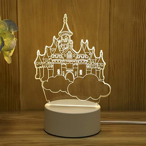 Creativo 3D luz de Noche led Regalo luz Ojo lámpara de Mesa Dormitorio Enchufe lámpara de Noche Regalo Cielo Ciudad Enchufe luz de Tres Colores 220V