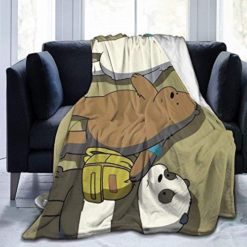 BettiCharm We Bare Bears - Manta de franela muy suave y cómoda, adecuada para sofá, salón, cama, uso en todas las estaciones, 60 x 50 pulgadas, para adolescentes
