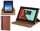 Navitech stilvolles rotierbares 10 Zoll Stand Hülle Cover Hülle in Braun mit Stylus Pen für das Odys IEOS Quad 10.1 Zoll Tablet-PC