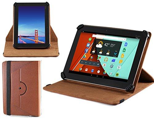 Navitech stilvolles rotierbares 10 Zoll Stand Case Cover Hülle in Braun mit Stylus Pen für das ASUS ZenPad 10 (Z300CG)