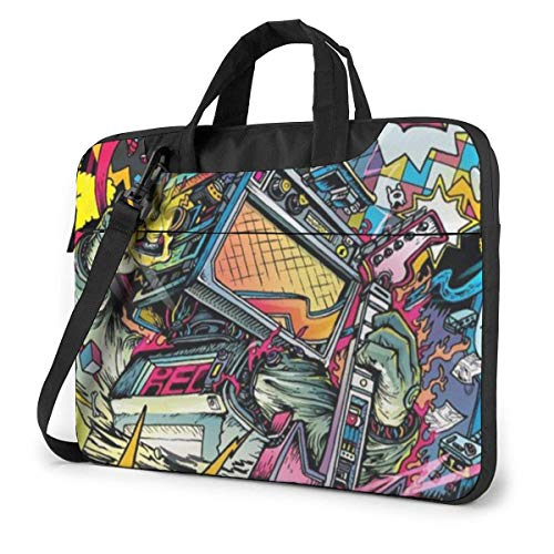 15.6″Durable Hombro Mensajero Bolsa maletín PC Arte De Anime Moda Impermeable Ordenador Portátil/portátil/Tablets