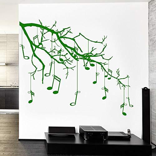 BailongXiao Wohnzimmer wandaufkleber Musik AST Notizen cool garantie qualität Vinyl wandtattoo Schlafzimmer klassenzimmer Dekoration 63x75 cm